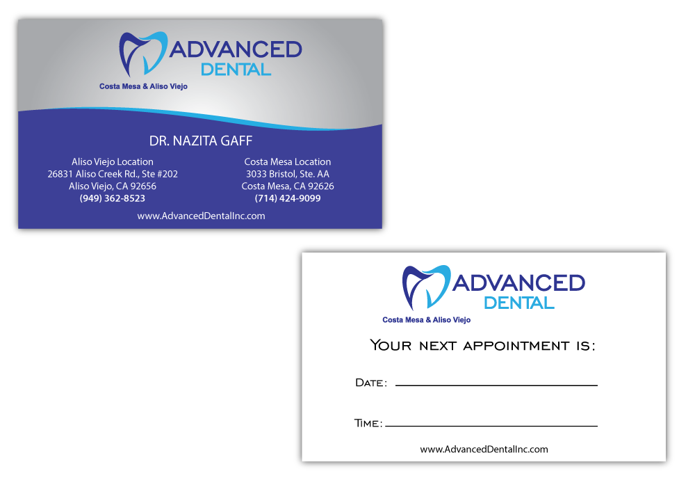 Advanced Dental Business Card Pinnacle Marketing Group